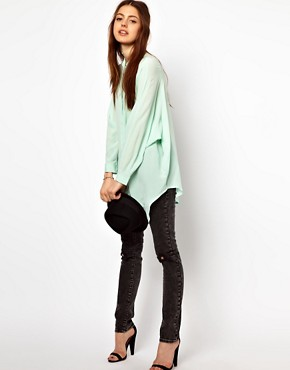 Image 4 ofJust Female Oversized Blouse