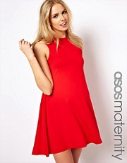 ASOS Maternity - Vestito svasato senza maniche