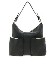 ASOS Hobo Bag With Metal Bars