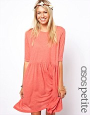 ASOS PETITE Smock Dress In Nepi