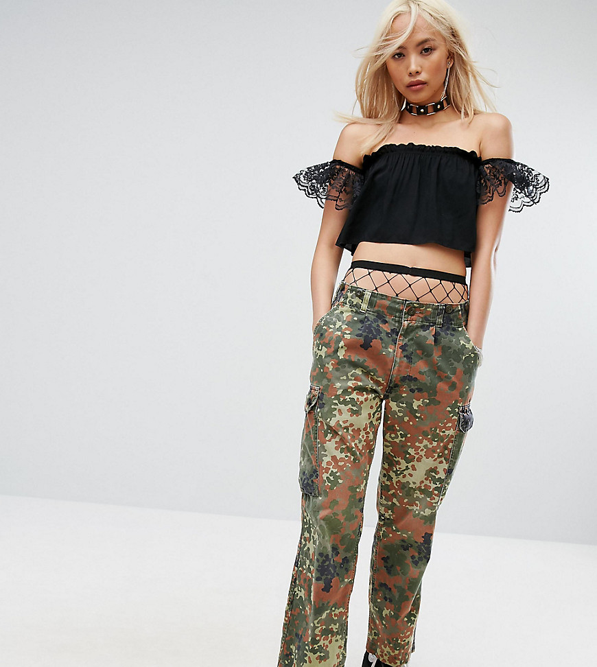 Milk It Vintage Festival Camo Pants - Green