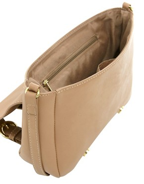 Image 2 ofASOS Scallop Double Buckle Across Body Bag