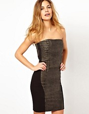 Gestuz Strapless Leather Dress