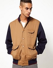 55DSL Jacket Junset Bomber Contrast Sleeve