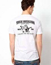 True Religion T-shirt Double Puff Logo Back Print