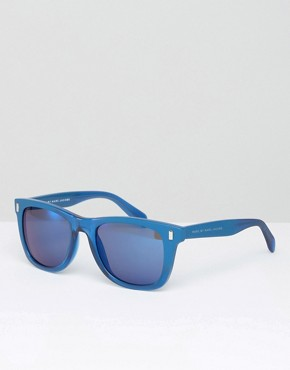 Marc By Marc Jacobs Square Sunglasses In Blue