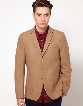 Image 1 ofPlectrum By Ben Sherman Patch Pocket 3 Button Blazer