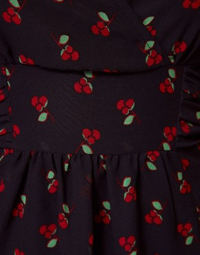 Image 3 ofA Wear Cherry Print Tea Dress