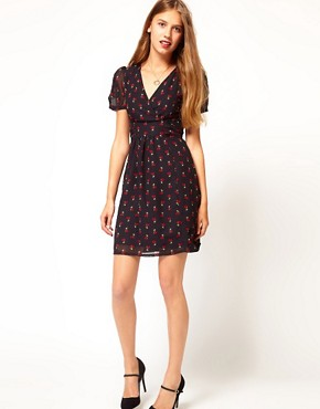 Image 4 ofA Wear Cherry Print Tea Dress
