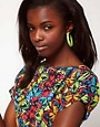 Image 2 ofASOS Neon Cord Hoop Earrings
