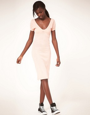 Image 1 ofAmerican Apparel Jersey Midi Dress