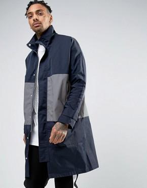 ASOS Parka Jacket Witth Reflective Stripe