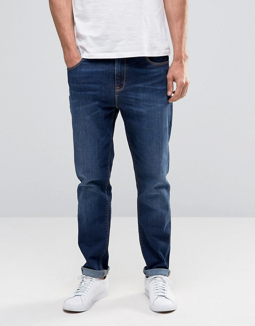 ASOS Tapered Jeans In Dark Wash - Dark blue