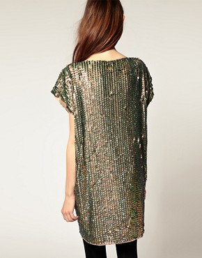 Image 2 ofASOS Shift Dress in Sequin