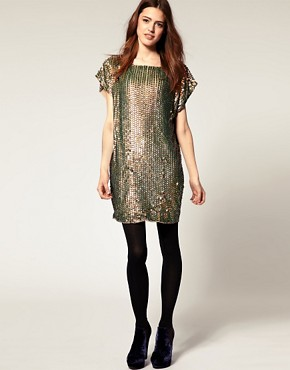 Image 4 ofASOS Shift Dress in Sequin