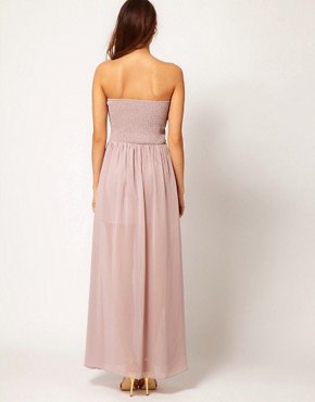 Image 2 ofLittle Mistress Embellished Bust Maxi Dress