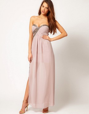 Image 4 ofLittle Mistress Embellished Bust Maxi Dress