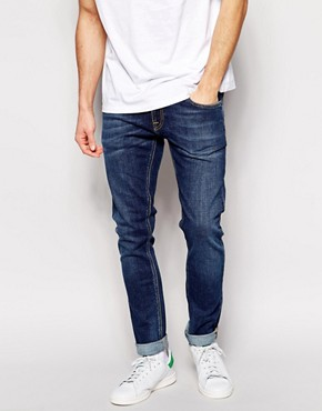 Nudie Jeans Tight Long John Skinny Fit Stretch Indigo Vision