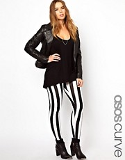 ASOS CURVE Legging In Wide Stripe