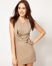 JNBY Twist Knotted Drape Dress