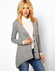 ASOS Cardigan With Hanky Hem