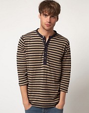Diesel T-Vestla Stripe Grandad 3/4 Sleeve Top