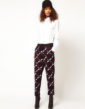 Image 1 ofASOS Sweatpants with Geo Panels