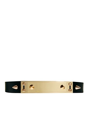 Image 1 ofASOS Double Plate And Spike Detail Waist Belt