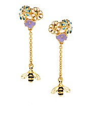 Bill Skinner Floral Bug Drop Earrings