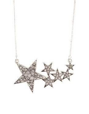 Image 1 ofASOS Shooting Stars Short Pendant