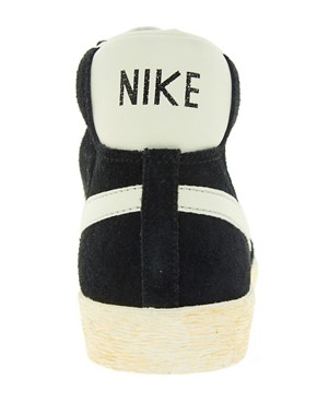 Image 2 ofNike Blazer High Vintage Black Trainers