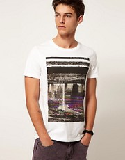 ASOS T-Shirt With Distorted Photographic Print