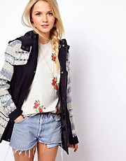 ASOS Premium Jacquard Parka