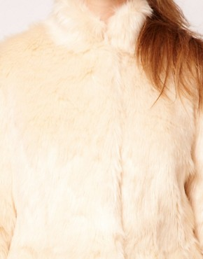 Image 3 ofASOS CURVE Exclusive Fur Peplum Coat