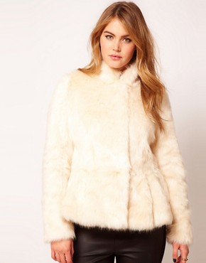 Image 4 of ASOS CURVE Exclusive Fur Peplum Coat