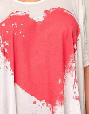 Image 3 ofASOS CURVE Exclusive Bleeding Heart Dip Back Top