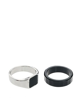 Image 1 ofASOS Signet Ring Pack