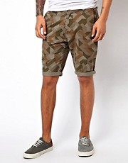 Boxfresh  Dabeet  Shorts mit geometrischem Tarnmuster