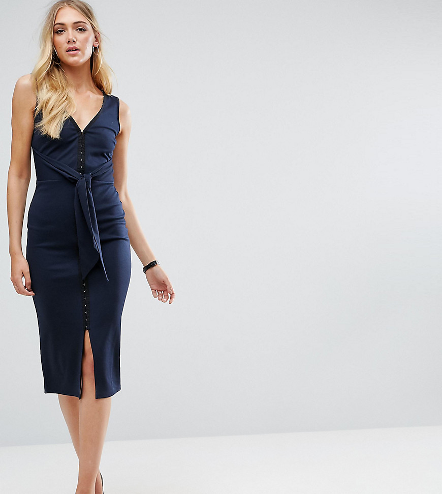 ASOS TALL Hook & Eye Knot Midi Dress