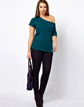 Image 4 ofASOS CURVE Exclusive Off Shoulder T-Shirt