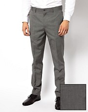 ASOS - Pantaloni da abito slim fit grigio medio