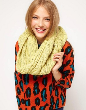 Image 1 ofASOS Wool Mix Cable Funnel Snood