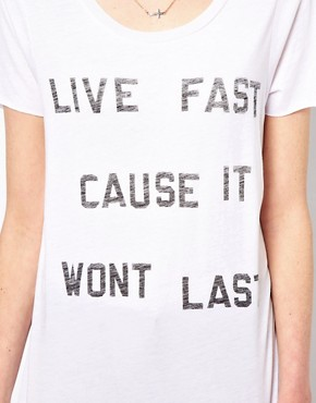 Image 3 ofZoe Karssen Live Fast T-Shirt