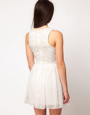 Image 2 ofASOS PETITE Exclusive Dress With Sequin Daisies