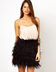 Opulence England Prom Dress with Feather Skirt