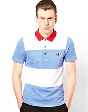 Polo a rayas en bloque de Lyle & Scott Vintage
