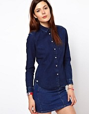 Lacoste L!Ve Stonewash Denim Shirt