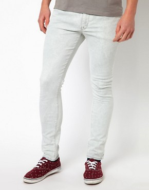 Image 1 ofASOS Washed Super Skinny Jeans
