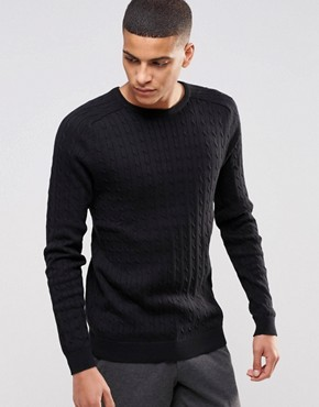 Selected Homme Cable Knit Jumper