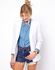ASOS Linen Edge To Edge Blazer